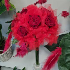 Le bouquet tulle